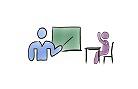 Lehrer und Schüler, verlinkt zum Bereich Lehrveranstaltungen