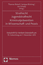 Buchtitel Strafrecht, Jugendstrafrecht, Kriminalprävention in Wissenschaft und Praxis, verlinkt zu weiteren Informationen auf den Webseiten des Nomos-Verlages