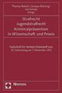 Buchtitel Strafrecht, Jugendstrafrecht, Kriminalprävention in Wissenschaft und Praxis, verlinkt zu weiteren Informationen auf den Webseiten des Nomos-Verlages