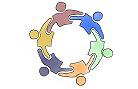Zum Kreis verbundene Menschen, verlinkt zum Bereich Team